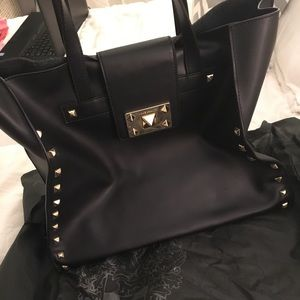 Vince camuto tote black leather bag